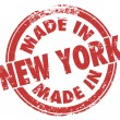 Made in New York words on round stamp — Stock Photo #59578293