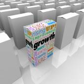 Growth and related words — Stock Photo