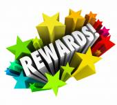 Rewards word in colorful stars — Stock Photo