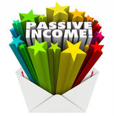 Passive Income word and 3d stars — Stock Photo