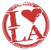 I Love LA symbol with heart in it — Stock Photo