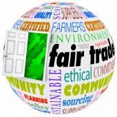 Fair Trade open door policy words — Stock Photo