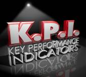 KPI letters abbreviation in red 3d word — Stock Photo
