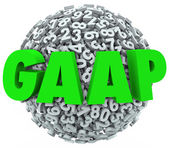 GAAP acronym or abbreviation letters on 3d ball — Stock Photo