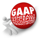 GAAP acronym or abbreviation on a ball — Stock Photo