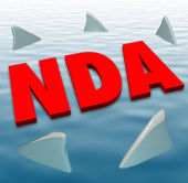 NDA acronym in red 3D letters — Stock Photo