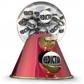 Prediction word on gumballs in machine or dispenser — Stock Photo