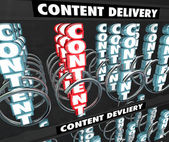 Content 3d word in a snack or vending machine — Stock Photo
