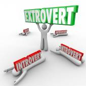Extrovert vs Introverted people — Стоковое фото