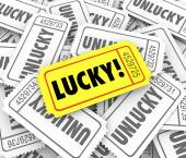 Lucky golden ticket winner defeats odds — Stock Photo