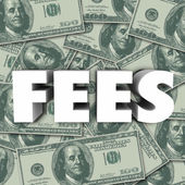 Fees word in 3d letters — Stock Photo