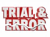 Trial and Error 3d words — Stock Photo