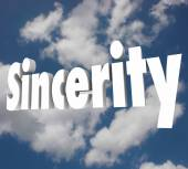 Sincerity word on cloudy sky — Stock Photo