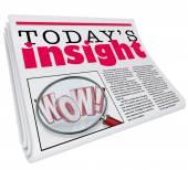 Today's Insights Words on newspaper headline — Stock Photo