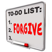 Forgive word written on a to do list — Stock Photo
