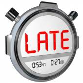 Late word on a clock, — Stock Photo