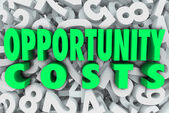 Opportunity Costs in 3d words — Stock Photo