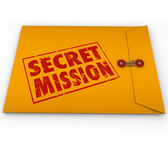 Secret Mission words in red ink — Stock Photo