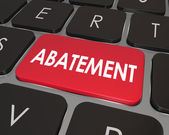 Abatement word on a computer keyboard button — Stock Photo