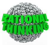 Rational Thinking 3d words on a ball or sphere — Stock Photo