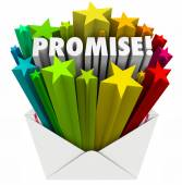 Promise word in an envelope — Stock Photo