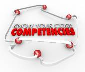 Know Your Core Competencies 3d words — ストック写真