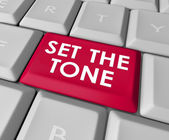 Set the Tone words on a computer keyboard button — Stockfoto