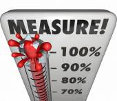 Measure word on a thermometer — Stock Photo