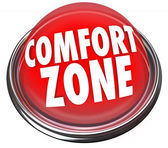 Comfort Zone words on a red light or button — Stock Photo