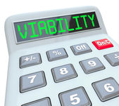 Viability word on a calculator — Stock Photo