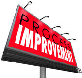 Process Improvement words on a billboard — Stock Photo