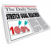 Stretch Goal Reached newspaper headline — Stock Photo