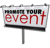 Promote Your Event words on a billboard — Foto de Stock