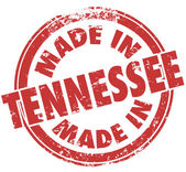 Made in Tennessee words in red ink — Stock Photo