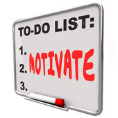 Motivate word written on a to-do list — Zdjęcie stockowe