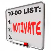 Motivate word written on a to-do list — Стоковое фото
