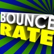 Bounce Rate 3d words — Stock Photo #61368721