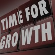 Time for Growth words on clock — Stock Photo #61368973