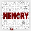 Memory word on puzzle pieces with holes — Stock Photo #61369167