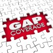 Gap Coverage 3d words in a hole or blank space — Stock Photo #61369661