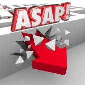 ASAP words abbreviation for As Soon As Possible — Stock Photo