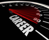 Career word on a speedometer — Stockfoto