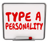 Type A Personality words on a dry erase board — Stock Photo