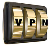 VPN letters on lock dials — Stock Photo