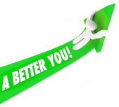A Better You 3d words on a green arrow — Stock Photo