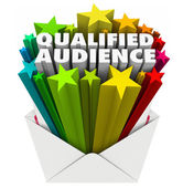 Qualified Audience words in an envelope — Stock Photo