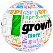 Growth word and related phrases — Stock Photo