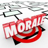 Morale 3D Word on an organization chart — Stock fotografie