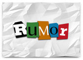 Rumor word in cutout letters — Stock Photo
