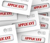 Many envelopes containing applications from applicants — Stock Photo